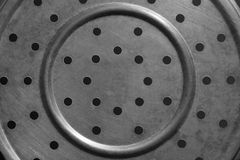 Texture of steel plate drilling holes in a circle. Stock Images