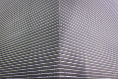 Texture of steel ventilation grille on the wall of a building Stock Photography