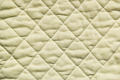 Texture of stitched fabric squares Stock Photo
