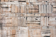 Texture of stone blocks in the wall Stock Image