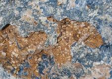 Texture of stone. Blue an brown/orange texture of stone Royalty Free Stock Photos