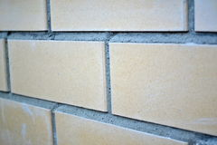 The texture of stone and brick with mortar Stock Image