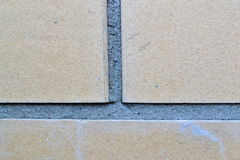 The texture of stone and brick with mortar Stock Photos