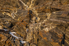 Texture of the stone cliffs. Stock Photography