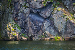 Texture of stone cliffs. On the Dnieper River Royalty Free Stock Image