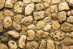 Texture of stone coquina wall in cement Royalty Free Stock Photography