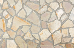 Texture of stone with mortar joints. Texture of the floor made of stone with mortar joints Royalty Free Stock Images