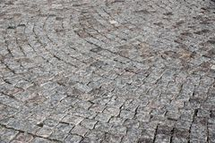 Texture of a stone pavement gray color Royalty Free Stock Photo