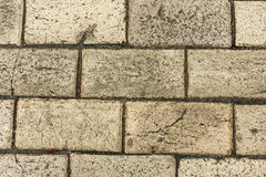 The texture of the stone pavement in the winter. Royalty Free Stock Images