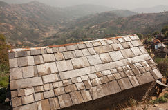 Texture Stone Roof Royalty Free Stock Images
