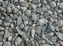 Texture of stone rubble, surface with a large number stones Stock Photography
