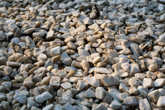 Texture of stone rubble. White rubble texture suitable as background Stock Images