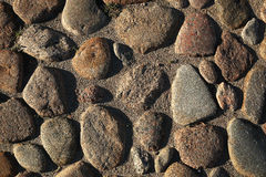 The texture of the stone. The stones on the ground Stock Photography