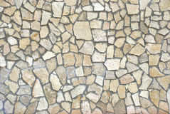 Texture of stone wall. Wall of small stone fragments as a texture stock photography