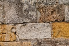 Texture of stone wall in ancient city, Hierapolis Stock Photos