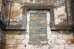 The texture of the stone wall. Architectural object. Stone stock photos