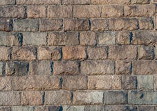 Texture of stone wall. Stone bridge supports Royalty Free Stock Photography