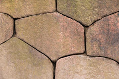 Texture of stone wall. Texture of the flat stone wall closeup Royalty Free Stock Image