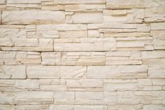 Texture of the stone wall. The wall made from artificial Stone Stock Photography