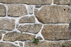 Texture of a stone wall. Stock Image