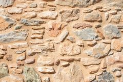 Texture of a stone wall. Old castle stone wall texture background. Briks stone and wall texture. royalty free stock photo
