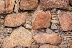 Texture of stone wall. Texture of the relief stone wall closeup Royalty Free Stock Images