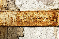 Texture of a stone wall with rust stains Stock Photo