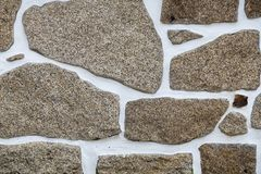 Texture of a stone wall. Royalty Free Stock Photography