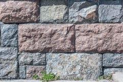 Texture of stone walls granite Stock Image