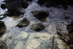 Texture of stone and water Royalty Free Stock Photography