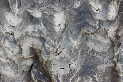 Texture of the stone with white veins. presumably travertine, gneiss or granite.  Stock Image