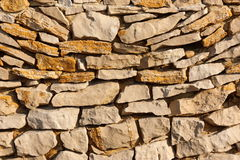 Texture of stones. Close texture of a wall, with big stones Stock Image