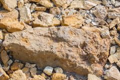 A texture of stones, also suitable as a background Royalty Free Stock Photography