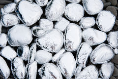 Stones covered with foil Royalty Free Stock Image