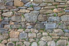Texture stones. Texture of medieval stones on a wall Stock Photography