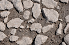 The texture of the stones and wet earth Royalty Free Stock Image