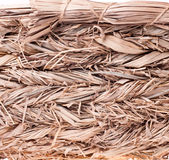 Texture of a straw basket closeup Royalty Free Stock Images
