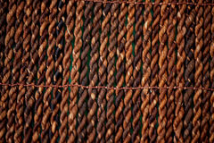 Texture straw design wicker brown rug. Close. Texture straw wicker brown rug. Close, bamboo royalty free stock images