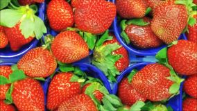Texture of strawberries. In the kitchen stock footage