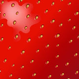 Texture Of Strawberry Stock Image