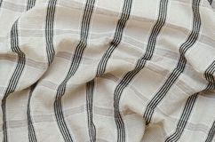 Texture of Striped Fabric. Stock Photography