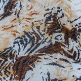 Texture of striped fabric on tiger Royalty Free Stock Photos