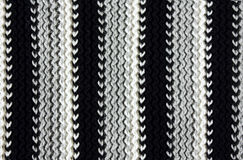 Texture of striped  knitted fabric Stock Photo