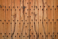 Texture of strong wooden gate Stock Images