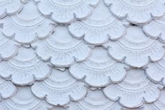 Texture of Stucco pattern white color wall Stock Photos