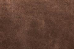 Texture of suede. Brown, studio, subject survey Stock Photos