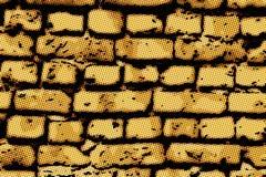 Texture superficielle par les agents de vieux fond rouge souillé de mur de briques Photos stock