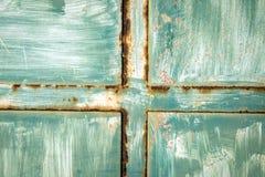 Texture sur la porte oxided en métal Image stock