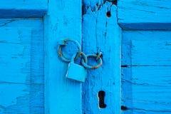 Texture sur la vieille porte Image libre de droits