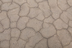 The texture of the surface of the earth that has cracked from dr Royalty Free Stock Image